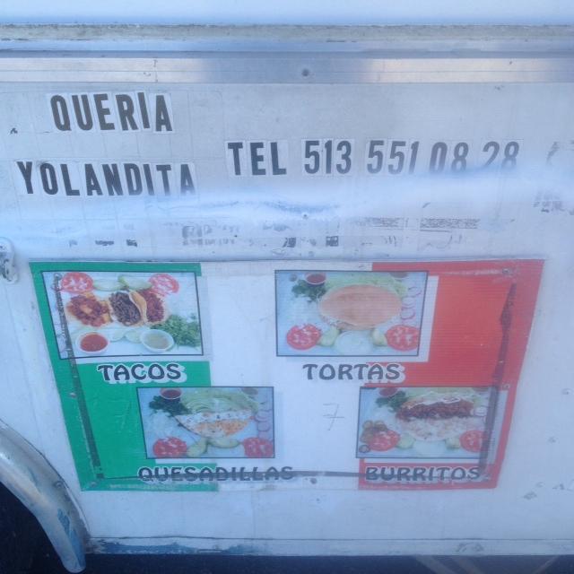 menu taqueria yolandita